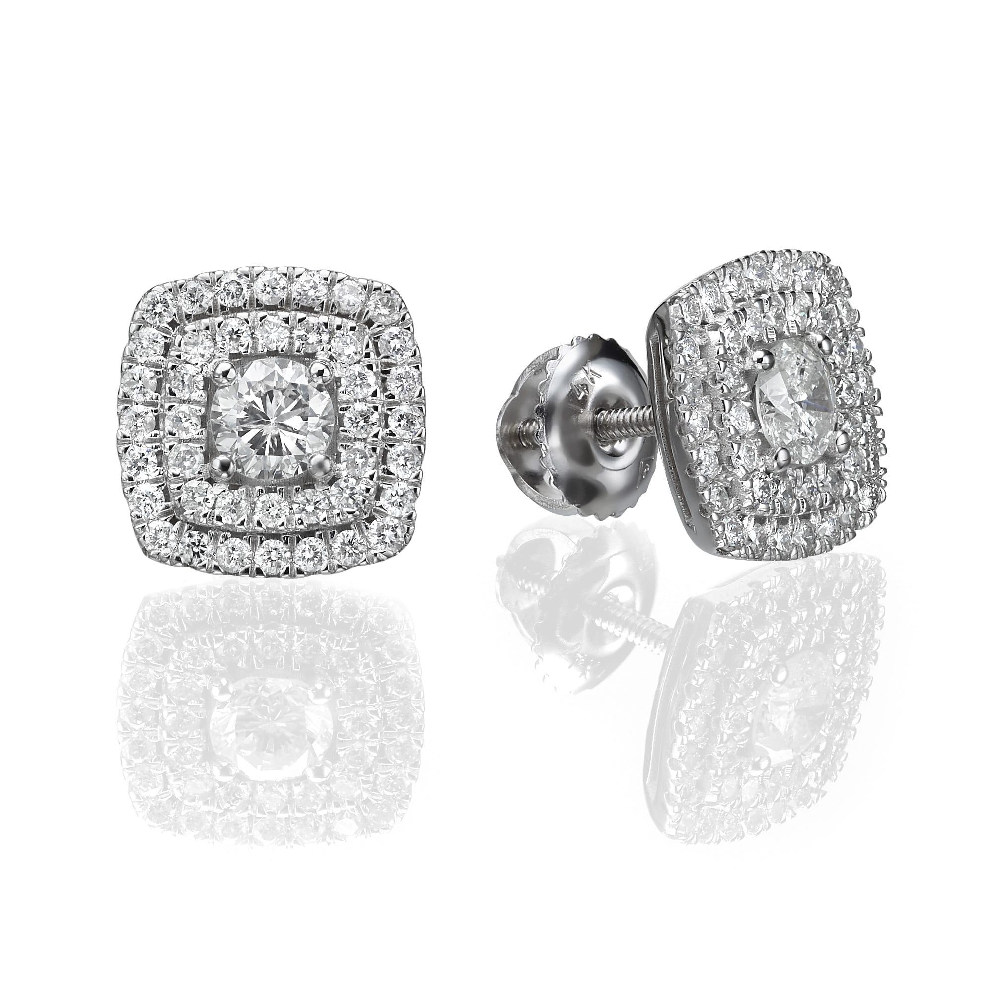 עגילי יהלומים דגם Brittany