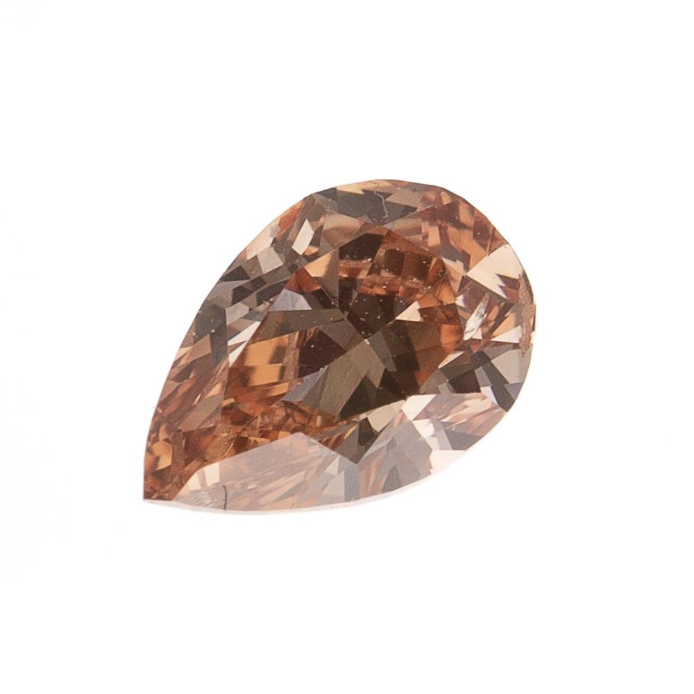 יהלום טבעי בגוון חום כתום 0.27 קראט GIA
