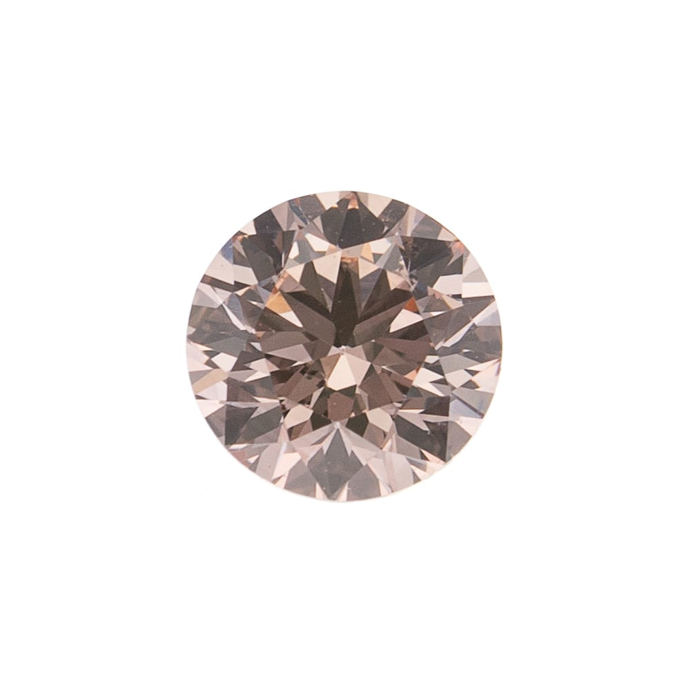 יהלום טבעי בגוון ורוד חום 0.19 קראט GIA