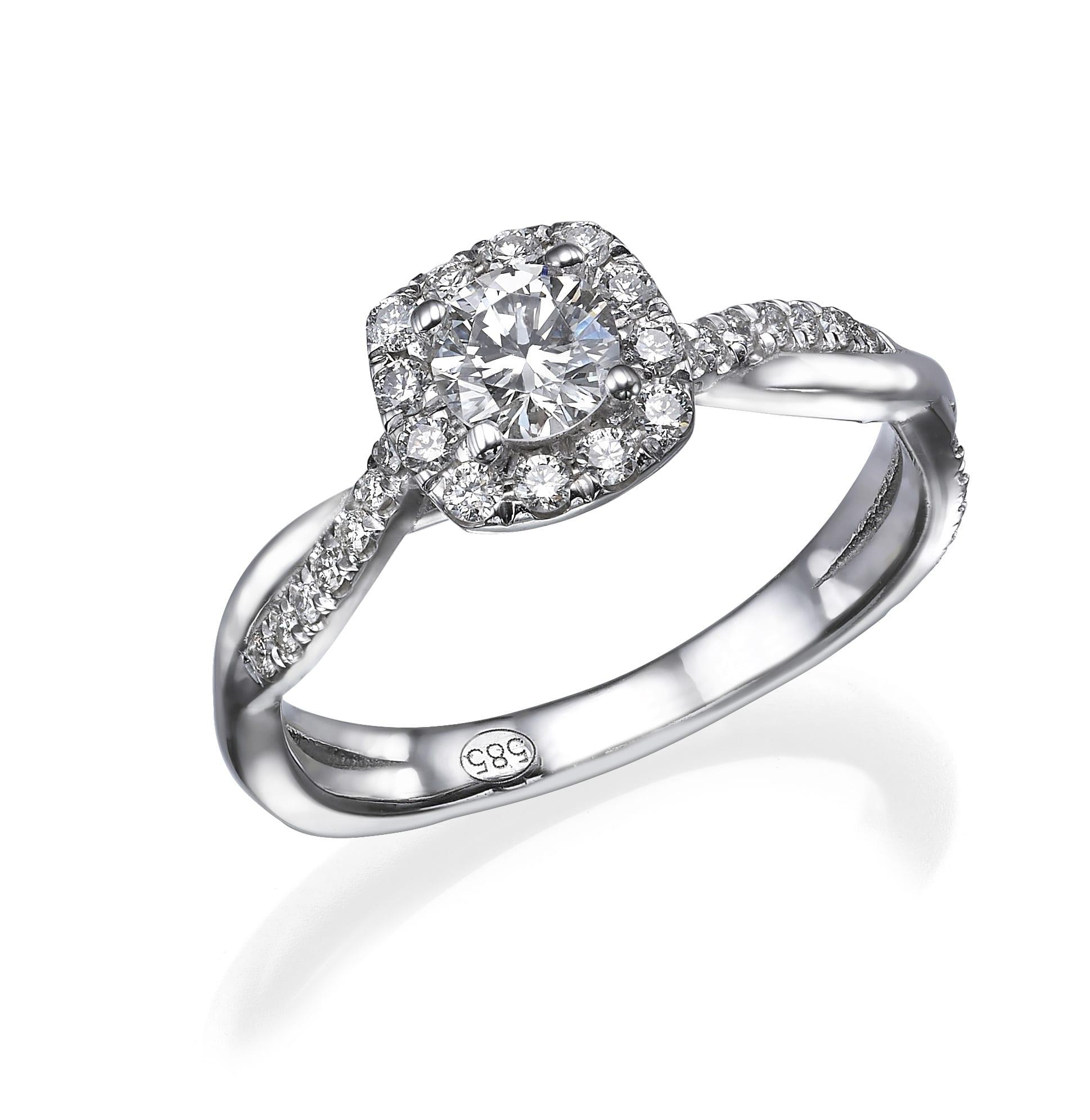 טבעת יהלומים דגם Hailey
