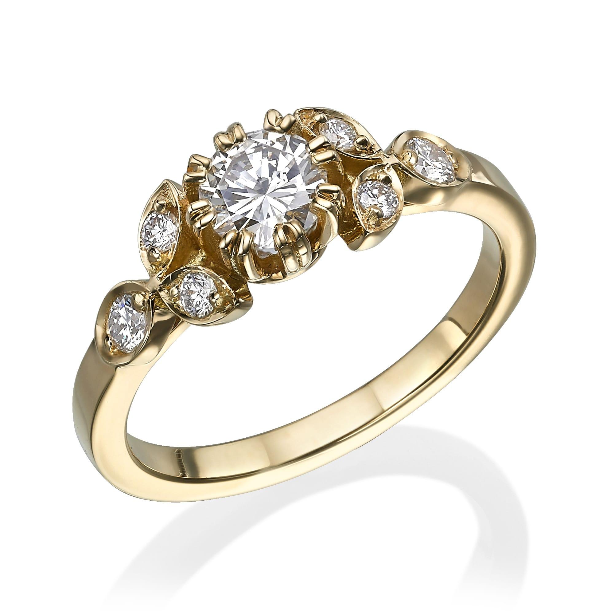 טבעת יהלומים דגם Linoy