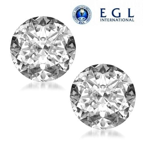 זוג יהלומים עגולים במשקל 2.02 קראט E-F/VVS1