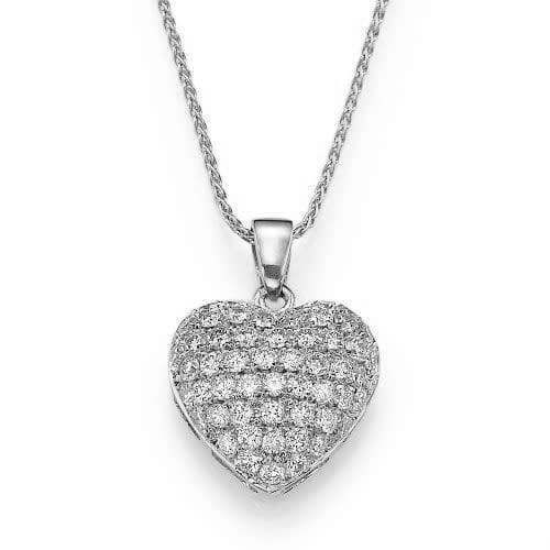 תליון יהלומים בעיצוב לב ב-38% הנחה!!!