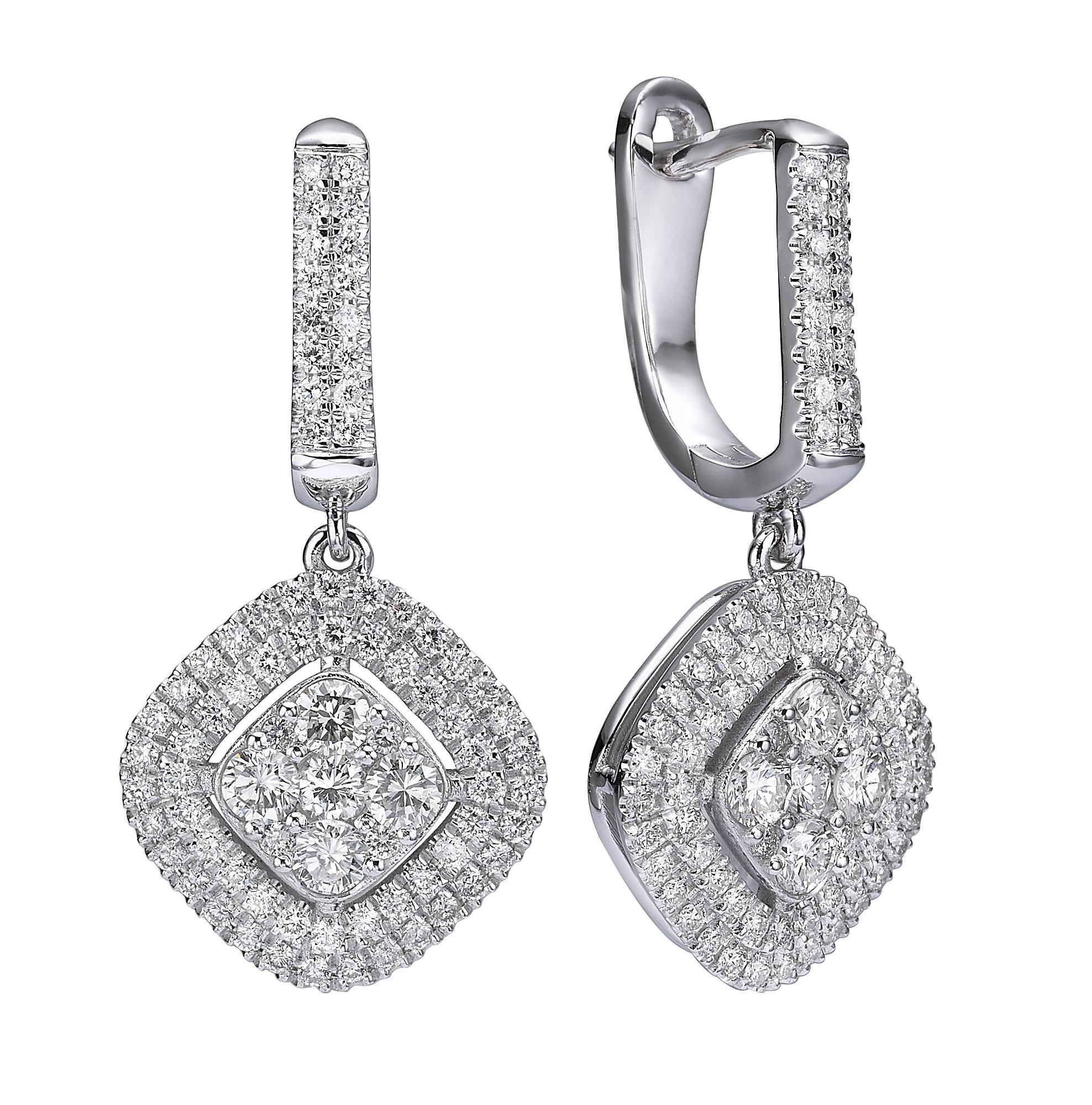 עגילי יהלומים דגם Stephanie