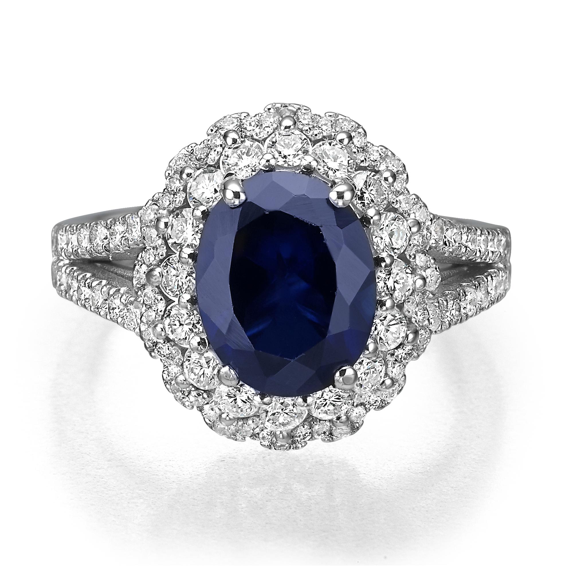 טבעת אבן חן ספיר דגם Camila